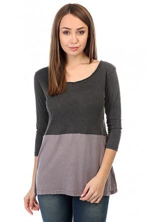 Лонгслив женский Billabong Essential 3/4 Black, 1158991,  Billabong, цвет фиолетовый, черный