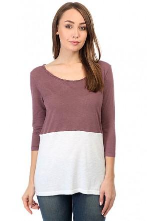 Лонгслив женский Billabong Essential 3/4 Mauvewood, 1158992,  Billabong, цвет белый, бордовый