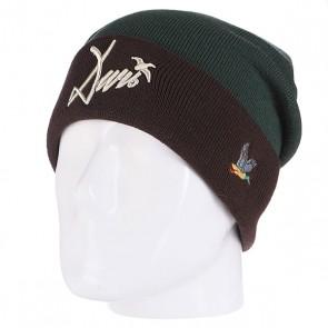 Шапка Запорожец Wildfowl Beanies Dark Green/Grey, 1102324,  Запорожец, цвет зеленый, коричневый
