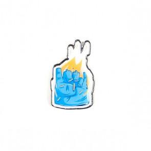 Значок Pyromaniac Rock You Light Blue, 1140249,  Pyromaniac, цвет голубой, черный