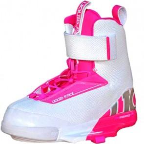 Крепления для вейкборда женские Liquid Force Lfk Boot Womens White/Pink, 1155338,  Liquid Force, цвет белый, розовый