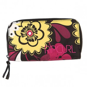 Кошелек женский Rip Curl Vintage Wallet Solid Black, 1070295,  Rip Curl, цвет желтый, черный