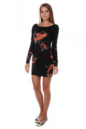 Платье женское Insight Axl Rose Dress Red Floral, 1125979,  Insight, цвет черный