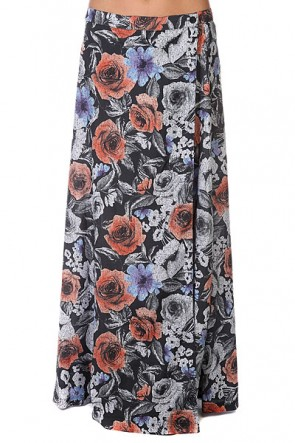 Юбка женская Insight Pocket Full Of Posies Skirt Black, 1125995,  Insight, цвет мультиколор