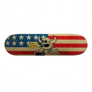 Дека для скейтборда для скейтборда Toy Machine Dead American Monster Blue/Red/Beige 31.5 x 8.125 (20.6 см), 1159079,  Toy Machine, цвет бежевый, красный, синий