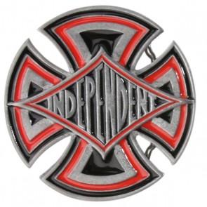 Пряжка Independent Diamond Cross Belt Buckletrinkets Mens, 1017232,  Independent, цвет красный, серый