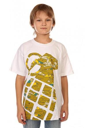 Футболка детская Grenade Stamp White/Camo, 1132422,  Grenade, цвет белый