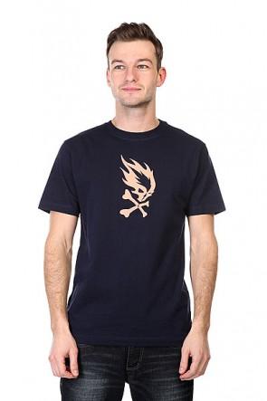 Футболка Pyromaniac Flame Skull  Navy, 1102740,  Pyromaniac, цвет синий