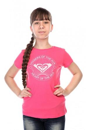 Футболка детская Roxy Rgcrewchasers Tees Peony, 1143520,  Roxy, цвет розовый