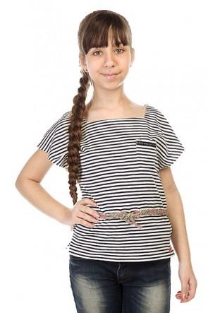 Футболка детская Roxy Evening Kttp Pop Stripes Combo Sa, 1143528,  Roxy, цвет белый, черный