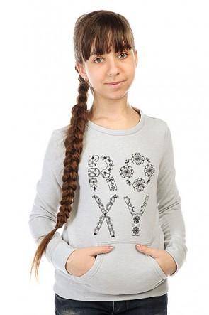 Толстовка кенгуру детская Roxy Full Otlr Heritage Heather, 1143531,  Roxy, цвет серый