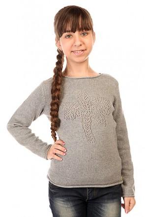 Толстовка классическая детская Roxy Love Swtr Heritage Heather, 1143542,  Roxy, цвет серый