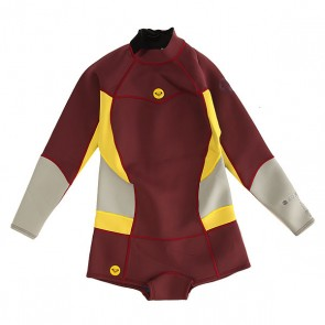 Гидрокостюм (Комбинезон) детский Roxy 2/2mm Back Zip Uni, 1148626,  Roxy, цвет бордовый, желтый, серый