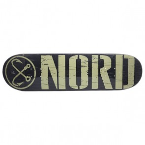 Дека для скейтборда для скейтборда Nord Logo Black/Beige 32.5 x 8.5 (21.6 см), 1148698,  Nord, цвет бежевый, черный