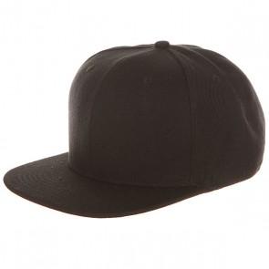 Бейсболка с прямым козырьком TrueSpin Blank Snapback Black, 1153320,  TrueSpin, цвет черный