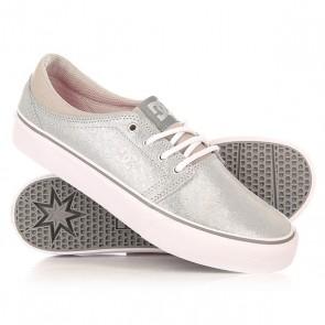 Кеды кроссовки низкие женские DC Trase Se Silver, 1155688,  DC Shoes, цвет серый