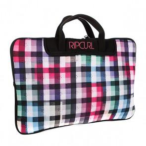 Сумка для ноутбука женская Rip Curl Check Laptop Sleeve Solid Black, 1070390,  Rip Curl, цвет белый, розовый, черный