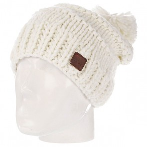 Шапка с помпоном женская Roxy Taos Beanie Bright White, 1097589,  Roxy, цвет белый