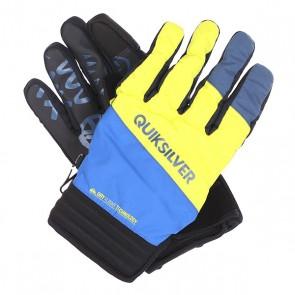 Перчатки сноубордические Quiksilver Method Glove Olympian Blue, 1129188,  Quiksilver, цвет желтый, синий