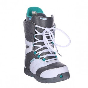 Ботинки для сноуборда женские Burton Coco White/Grey/Teal, 1106307,  Burton, цвет белый, серый