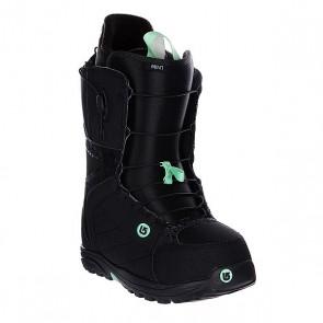 Ботинки для сноуборда женские Burton Mint Black/Mint, 1106308,  Burton, цвет зеленый, черный