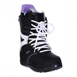 Ботинки для сноуборда женские Burton Coco Black/True Purple, 1106310,  Burton, цвет белый, фиолетовый, черный
