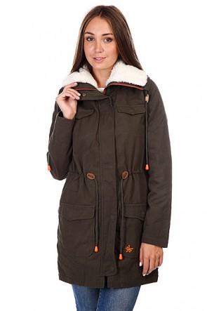 Пальто женское Zoo York Trudie Parka Olive Night, 1120524,  Zoo York, цвет зеленый