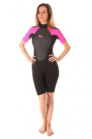 Гидрокостюм (Комбинезон) женский Billabong Launch Ss Springsuit Hot Pink, 1153404,  Billabong, цвет розовый