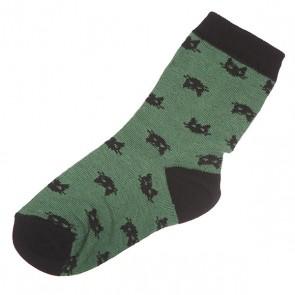 Носки средние детские Запорожец Котики Green, 1135751,  Запорожец, цвет зеленый, черный