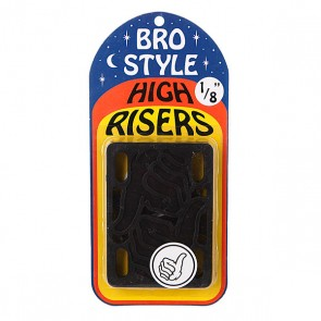 Подкладки для скейтборда Bro Style 1/8 High Risers, 1064905,  Bro Style, цвет черный