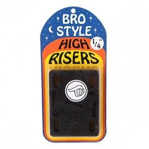 Подкладки для скейтборда Bro Style 1/4 High Risers, 1064906,  Bro Style, цвет черный