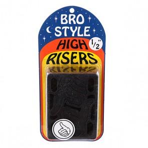 Подкладки для скейтборда Bro Style 1/2 High Risers, 1064907,  Bro Style, цвет черный
